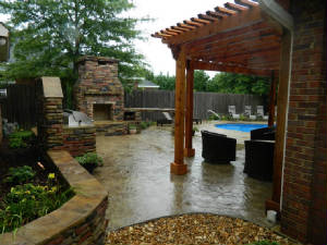 Outdoor Grill, Pergola and Pool